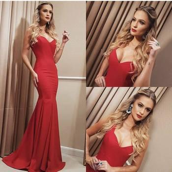 Cheap Red Mermaid Prom Dress Long 2020 vestidos de fiesta de noche Imported Party Dresses Formal Women Evening Gowns