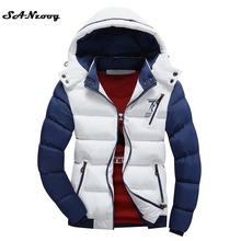 2017 Fashion Ultralight Spring Winter Warm Jacket Men Cotton Brand Clothing Thick Zipper Slim Men's Jackets Parkas Designer Fit