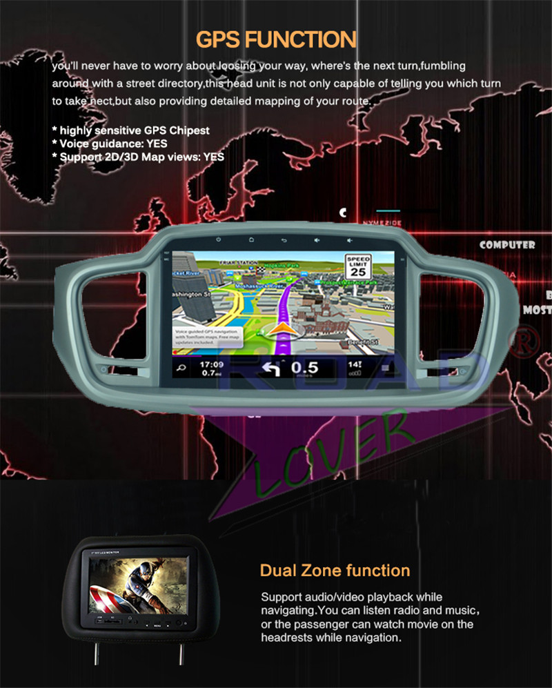 car android dvr For KIA Sorento 2015