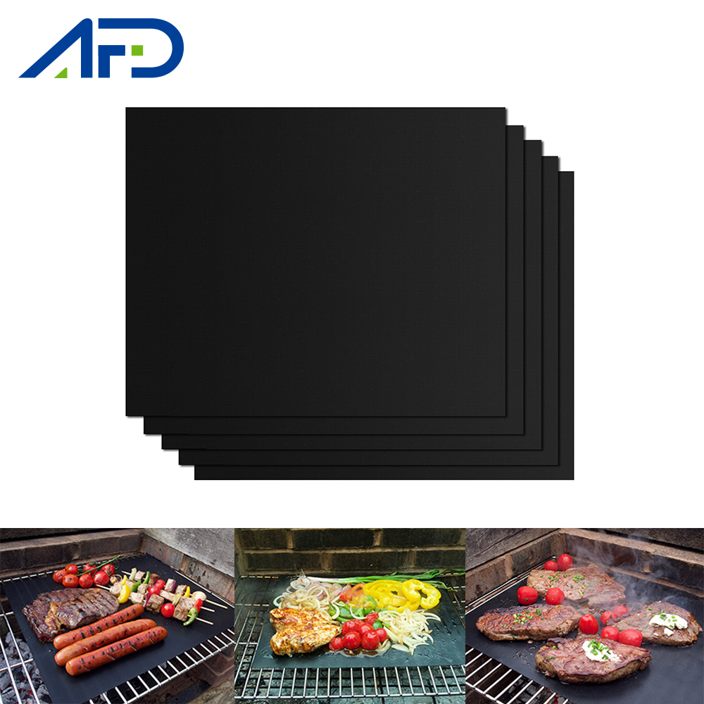 Non-stick BBQ Grill Pad Barbecue Baking Pad Reusable Teflon Cooking Plate 40x30cm For Party Grill Mat Tools New