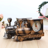 Vintage Train Creative Locomotive Shaped Standing Mini Aarm Clock Wonderful Toy Unique Design Free Shipping