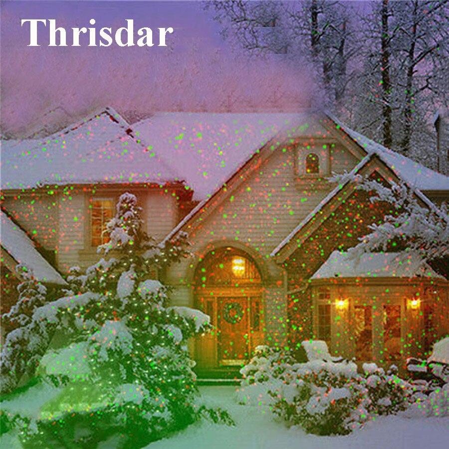 Thrisdar Outdoor Garden Red Green Laser Projector Light Christmas Light Star Motion Shower Laser Projector Party R&G Stage Light джинсы g star g star gs001ewdxw28