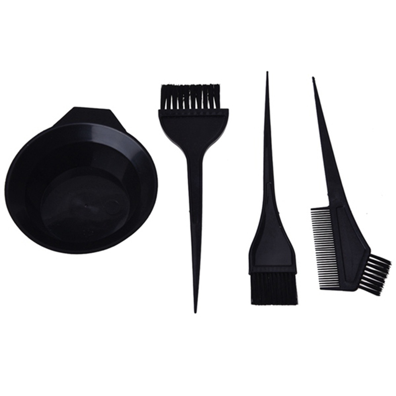 Hair Color Dye Bowl Comb Brushes Tool Kit Set Tint Coloring Dye Bowl Comb Brush Twin High Quality Headed Brushes Set