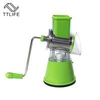 TTLIFE Stainless Steel Fruit Slicer With 3 Blades Nut Grinding Machine Vegetables Graters Multifunctional Vegetable Tools