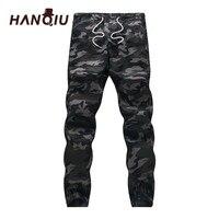 Mens Jogger 2017 Autumn 100 Cotton Harem Pants Men Camouflage Military Pants Loose Comfortable Cargo Trousers