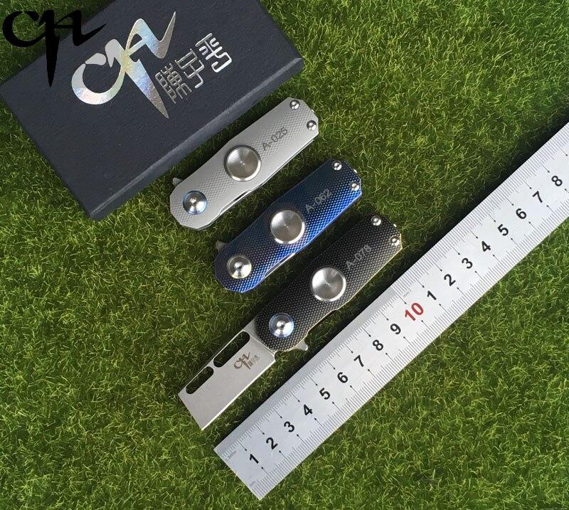 CH Titanium Handle S35VN Blade Folding Knife Ball Bearing Fins EDC Survival Rescue Multi purpose Hand