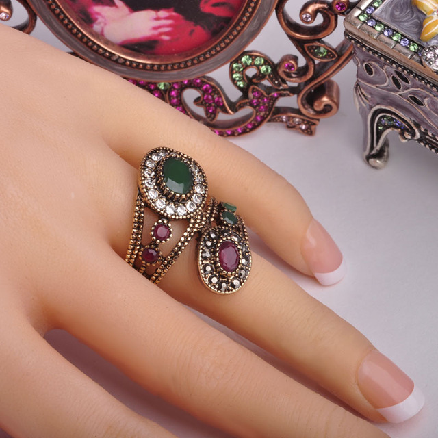 Day 365 New Arrival Exquisite Vintage Rings Turkish Jewelry
