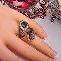 Dia 365 nova chegada requintado do Vintage anéis jóias turco antigo banhado a ouro espiral charme e Design Anel de dedo Aneis Anel