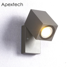 Apextech Outdoor LED Wall Lamp 10W COB Waterproof Modern Nordic Style Aluminum Balcony Garden Lights Courtyard Porch Lamps beiaidi 20w waterproof led wall lamps outdoor led porch lights modern aluminum villa fence garden balcony gateway wall light