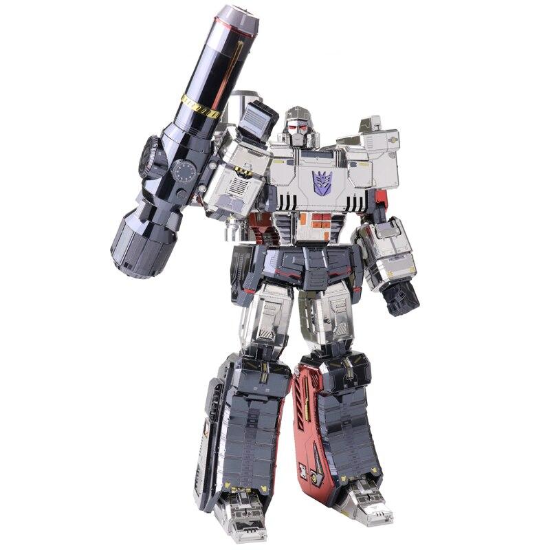 MU 3D casse-tête en métal Figure Jouet TF G1 Megatron modèle Laser Cut Assembler casse-tête 3D Modèles jouets cadeaux Pour Enfants