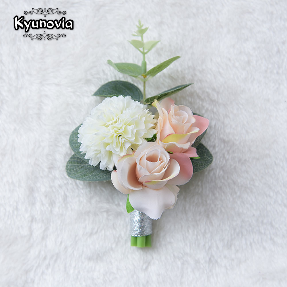 Wedding Flowers Corsage Ideas: Kyunovia Wedding Prom Boutonniere Flower Brooch Hand