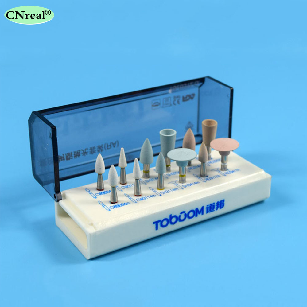 1 set (12 pieces) Dental Polishing Kit to Light cured Composite Resin for Low Speed Contra Angle RA0312D