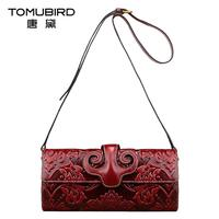 Famous Brand Top Quality Dermis Women Bag Ethnic Printed Messenger Bag Chinese Wind Retro Envelope Package