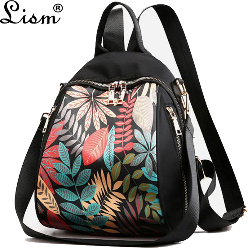 Bags For Backpack 2019 New Printed Backpack  Student Bag Black Leisure Travel Bag Oxford Cloth Lightweight Backpack Large Capaci