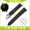 Venda de reloj de 20mm de liberación rápida para moto 360 2 2nd gen 42mm hombres butterfly hebilla primera capa de la correa de cuero genuino pulsera de la muñeca