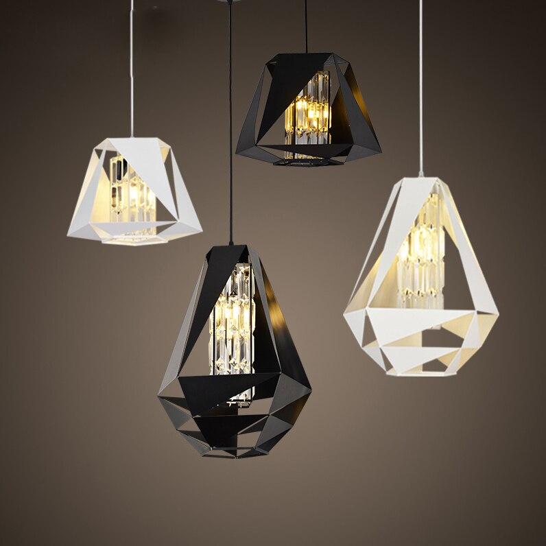 g4 led Nordic Iron Crystal Diamond LED Lamp LED Light.Pendant Lights.Pendant Lamp.Pendant light For Dinning Room Foyer Store