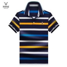 Hollirtiger 2019 New brand men polo shirt summer casual striped 95% cotton Striped polos camisa Trendy homme