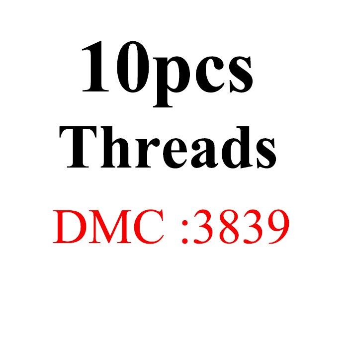 Snowlover, рукоделие, 10 шт./лот, 1,2 м, разные цвета, DMC3824-3848, вышивка крестиком, хлопковое шитье, моток пряжи, нить для вышивки - Цвет: 1.2mthread-DMC3839
