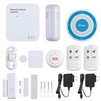 SANNCE APP Control Wireless Alarm System Burglar Security Home Door Window Alarm System Anti Thief WIFI/GSM/GPRS Remote Control