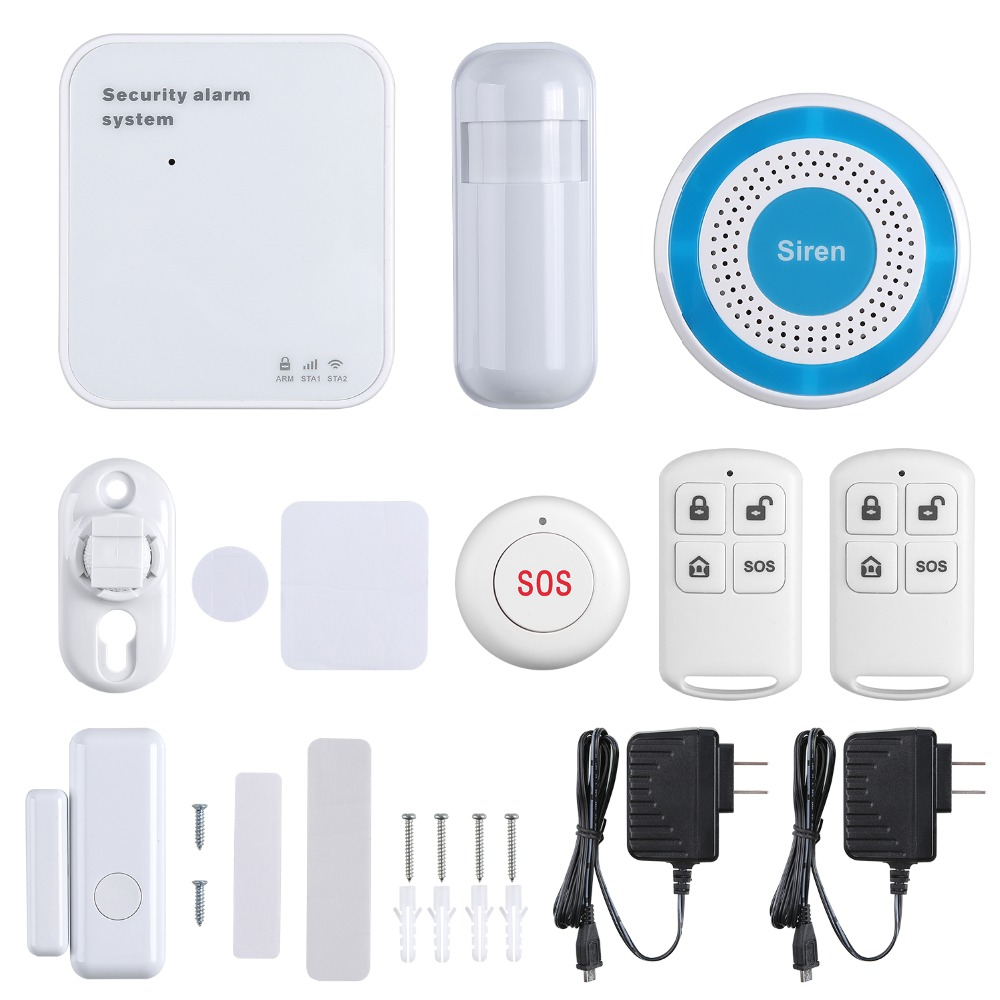 SANNCE APP Control <font><b>Wireless</b></font> <font><b>Alarm</b></font> <font><b>System</b></font> <font><b>Burglar</b></font> Security Home Door Window <font><b>Alarm</b></font> <font><b>System</b></font> Anti Thief WIFI/GSM/GPRS Remote Control image