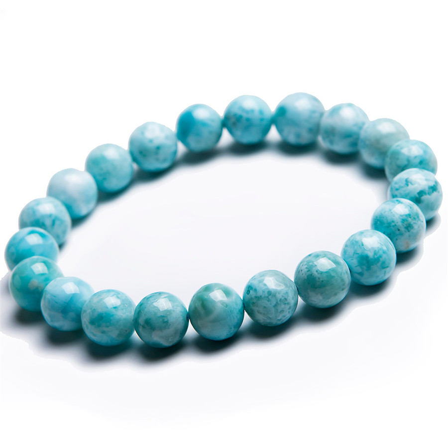 free shipping 9mm natural blue white larimar round bead. Black Bedroom Furniture Sets. Home Design Ideas