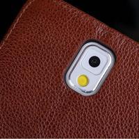 DEEVOLPO Luxo Genuíno Real Caso Carteira de Couro Para Samsung Galaxy Note N9000 3 NoteIII Note3 Virar Moda Fique Capa Bolsa