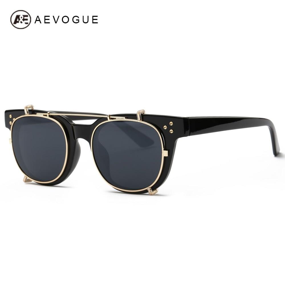 694dc46651313 Aevogue óculos de sol das mulheres virar para decolar lente steampunk marca  designer mais novo revestimento reflexivo óculos de sol uv400 ae0365