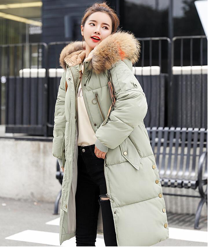 Winter warm Jacket Women Mid Long parkas 2018 Winter Women New Coat Korean Fashion Jacket Thicken Big Fur Collar Outerwear