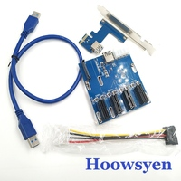 Riser Card Mining Special PCI E To PCIe Adapter 1 Drag 4 PCI E 1X Expansion