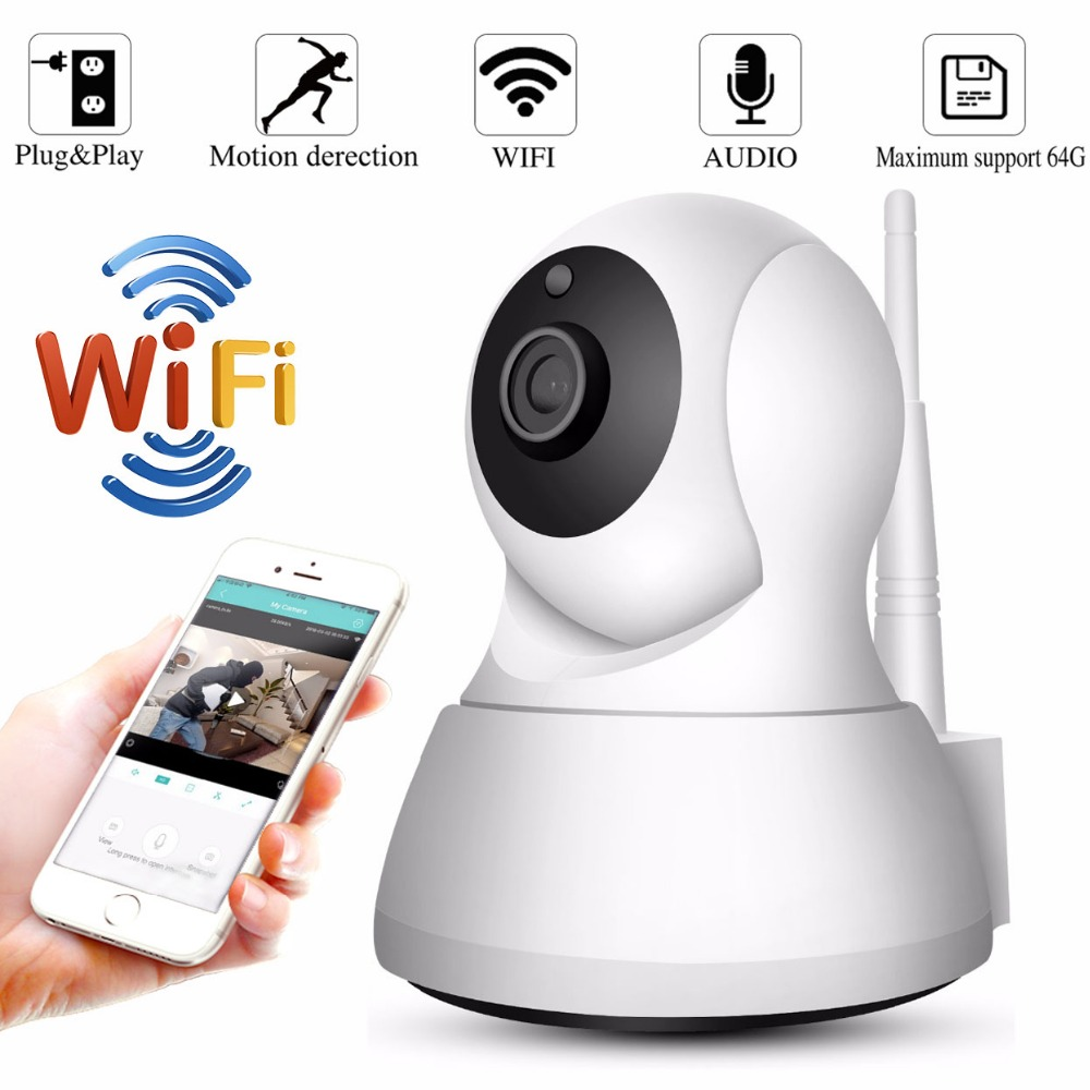 Wireless Security Camera Wireless IP Security Surveillance System with Night Vision//Two Way Audio for Home//Office//Baby//Nanny//Pet Monitor Car Guardiance