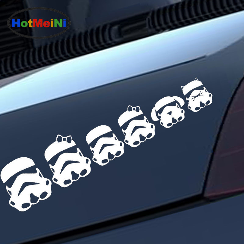 HotMeiNi Simple Honest Cartoon Characters Family Car Sticker for Motorcycles Laptop Car Styling Reflective Vinyl Decal 10 Color hot sale 1pc longhorn hilux 900mm graphic vinyl sticker for toyota hilux decals badges detailing sticker car styling accessories