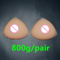 800g/pair C Cup Silicone Breast Form False Boobs For Mastectomy Crossdresser Drag Queen Shemale Transgender