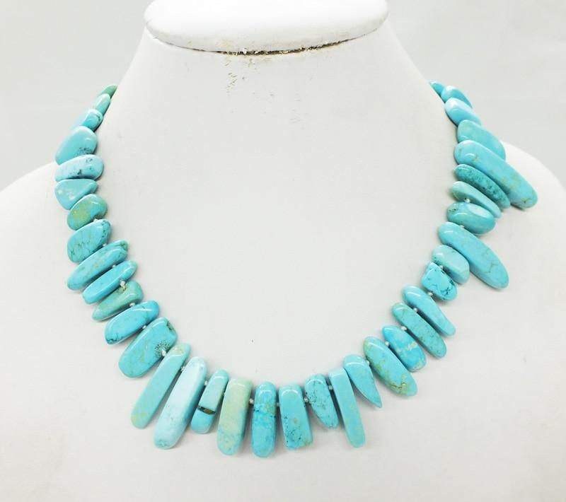 "Turkey.Natural.Semi-precious stones. necklace 17"""