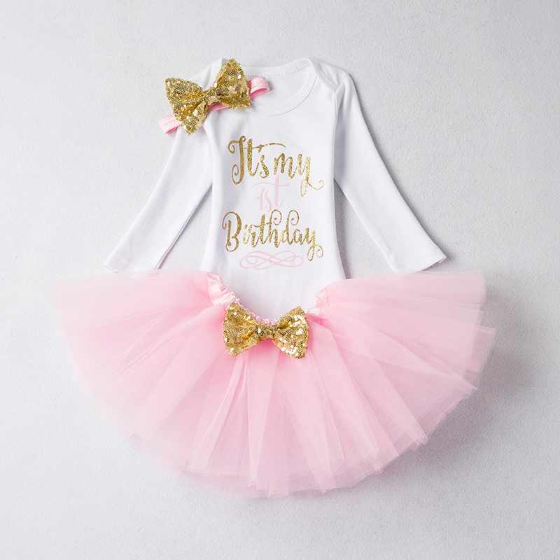 5e536bb20c0bd My Girl Baby Long Sleeve Girls First 1 Year Birthday Dress For Christening  Gown Infant Dresses Kid Costume Winter Clothes 9 12M