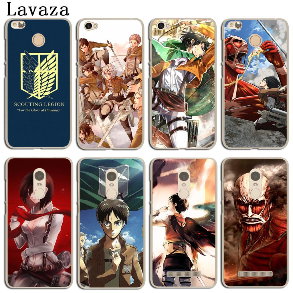 Lavaza Attack On Titan Japan Animation Phone Case for Xiaomi Redmi Mi 8 SE A1 6 5X 5S Plus Note 5 Pro 3 3S 4 4X 4A 5A Prime Mi8