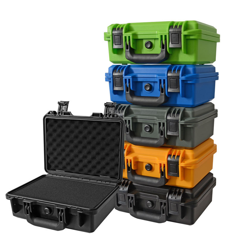 Plastic Safety Box Photographic Instrument Tool Case Impact Resistant Sealed Waterproof Box Hardware Toolbox With Pre-cut Foam