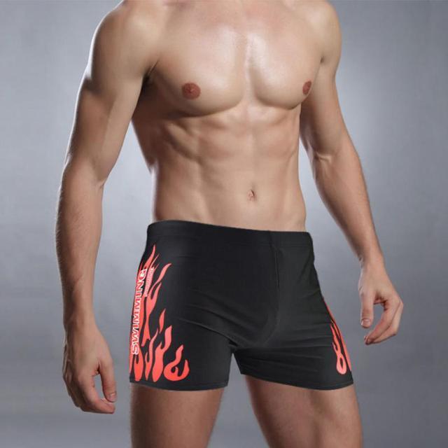 Men Swim Shorts Men Swimsuits Surf Board Beach Wear Swimming Trunks Boxer Shorts Swim Breathable Swimwear