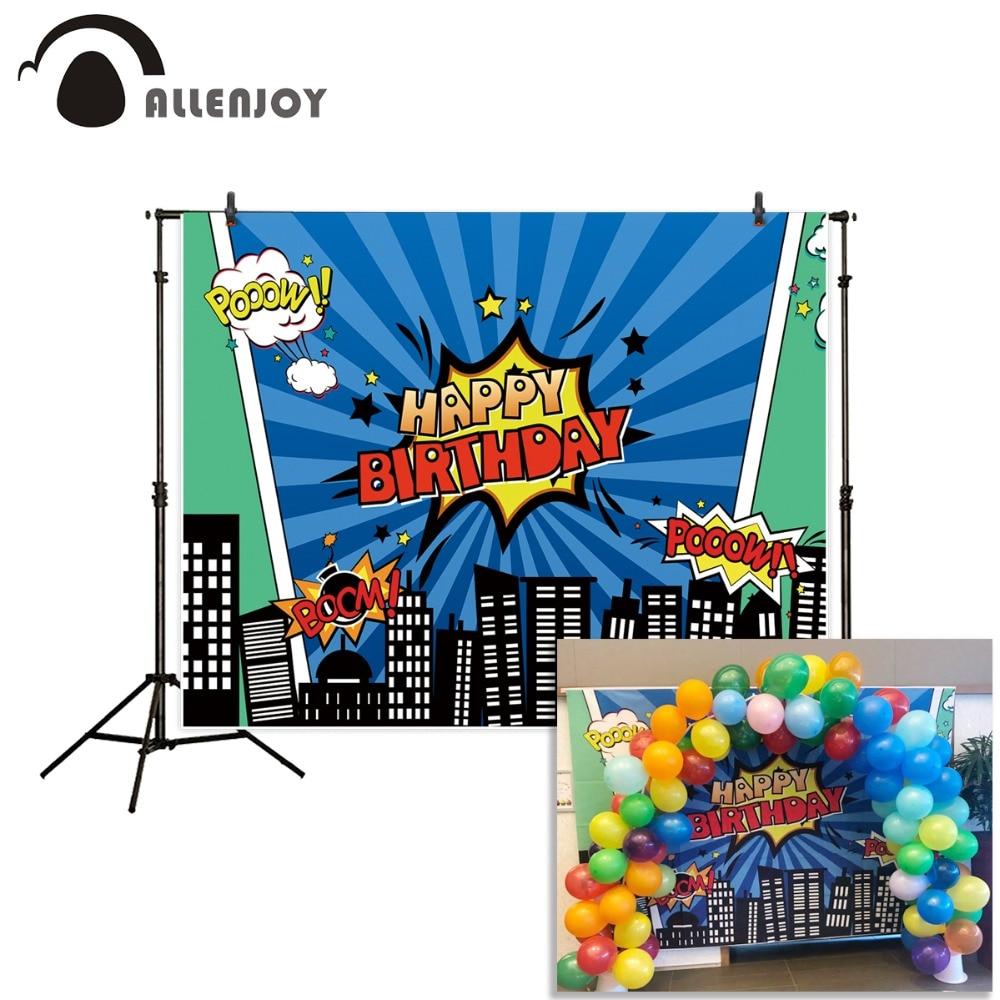Allenjoy-Hintergrund für Fotostudio Superhero-Stadt-Thema-blaue - Kamera und Foto