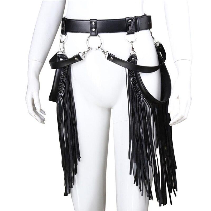 Vêtements Sexy en cuir Pu-reliure gland pour les filles chaudes discothèque fête spectacle Cosplay sexe cuir vêtements