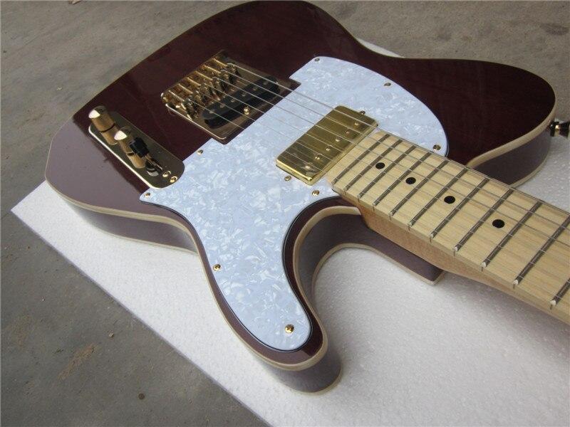 Guitare électrique guitare électrique + gros + TLguitar/couleur marron + guitare électrique/guitare en chine