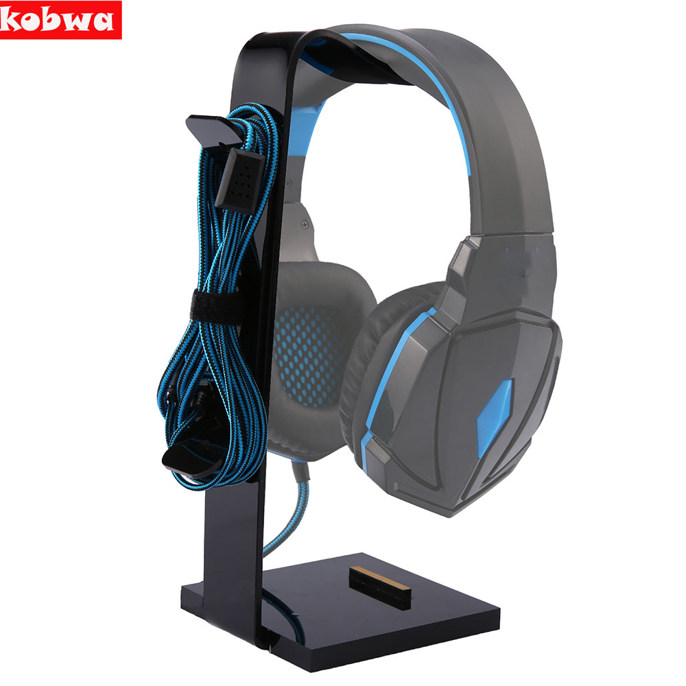 Universal Multifunctional Headphone Acrylic Headset Earphone Stand Holder Display for Headphones bracket Black for tablet