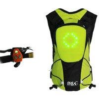 Ночной рюкзак беспроводной пульт дистанционного управления Предупреждение светодио дный свет поворот света светодио дный рюкзак светодио