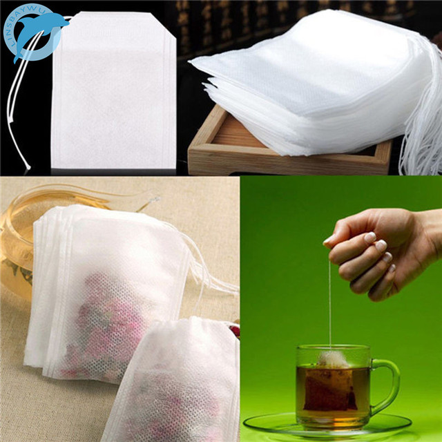 Linsbaywu Teabags 100pcs Lot 5 X 7cm Empty Tea Bags With String Heal Seal Filter