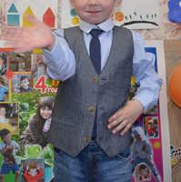 Mingkids gentleman sets for boy shirt+vest+tie 3pcs/set for party school export Europe