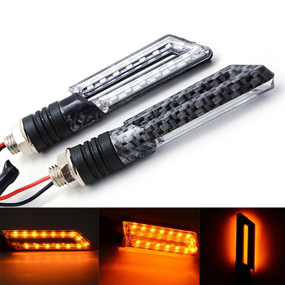 Universal LED Motorcycle Turn Signal Light Motorcycle Indicator Lamp Amber Flashes Flashlights For Honda For Yamaha