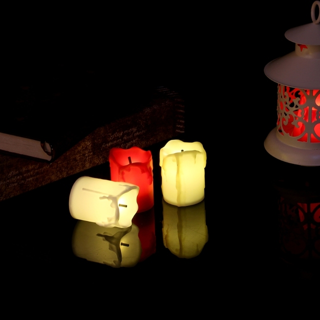 electric candle flameless led electric flickering tea light candles wedding christmas decoration - Electric Christmas Candles