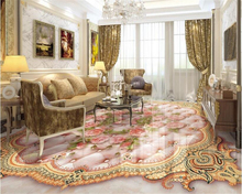 beibehang European fashion personality stereoscopic classic PVC wallpaper roses soft package marble relief 3D floor 3d