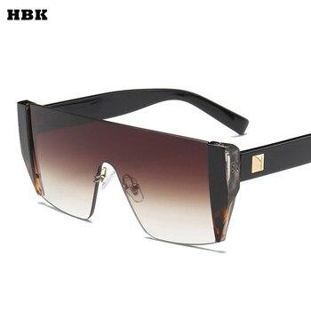 شبك مربع الفاخرة نظارات شمسية العلامة التجارية مصمم السيدات المتضخم ظلال شمسية النساء الذهب إطار مرآة نظارات شمسية ل الإناث