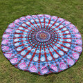ZAFUL Wholesale Ethnic Paisley and Elephant Print Chiffon Round Beach Throw  Summer Women Wrap Sarong Sunscreen Pareo Beach