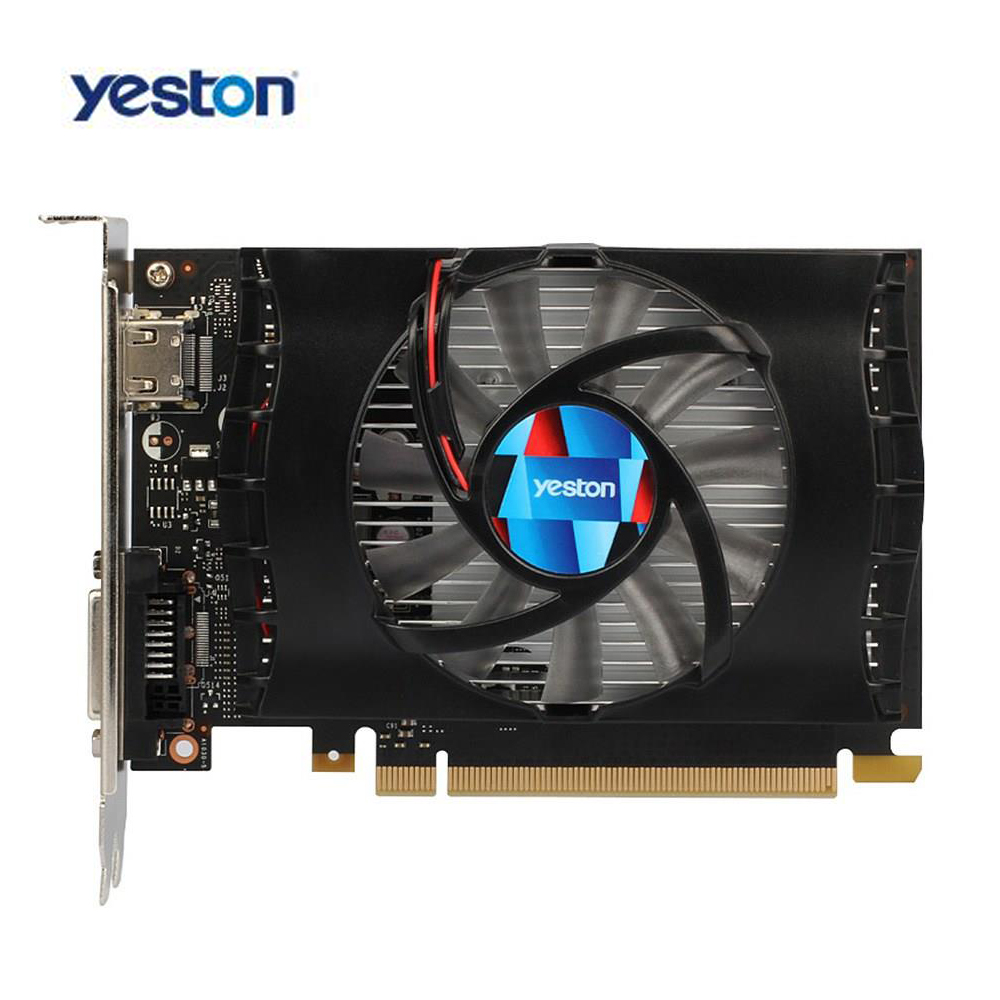 Yeston GT 1030 Geforce Gaming Graphics Card Fan GPU 2G GDDR5 64bit 4K Video Graphics Cards HDMI DVI 384 SP PCI-E X16 3.0 original gtx980m gtx 980m graphics gpu card n16e gx a1 8gb gddr5 for alienware clevo gtx980 video card gpu replacement